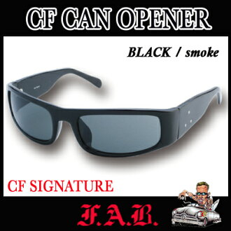 FAB Fab sunglasses CF CAN OPENER (BLACK/smoke) CF signature California hardcore surf brands