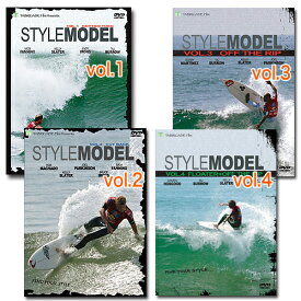 スタイルモデルシリーズ4本セット サーフィンDVD ハウツー イメージトレーニング トップサーファー 分析 スキルアップ サーフィンテクニック