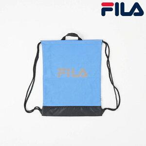 フィラ FILA 日本正規品 ユニセックス レディース 女性 男性 2WAYナップサック リュック カバン 鞄 持ち手 コンパクト 2WAY ナップザック ビッグロゴ ロゴ スポーツ 着替え 小物 便利 ブルー 青色