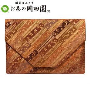 茶道具 数寄屋袋 人絹 お稽古用《縞柄桜紋》