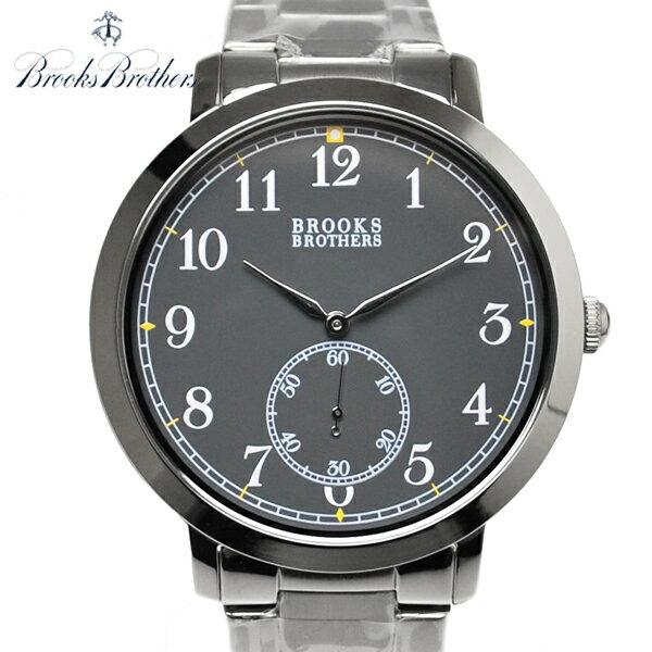ブルックスブラザーズ 腕時計 BROOKS BROTHERS クオーツ式 ウォッチ ステンレスベルト 時計 チャコール【送料無料】