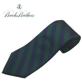 ブルックスブラザーズ ネクタイ BROOKS BROTHERS シルクタイ ストライプ アメリカ製 グリーン ネイビー