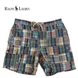 ラルフローレン 水着 海パン RALPH LAUREN ポロ POLO メンズ 紳士用 パッチワーク スイムウェア ショーツ パンツ チェック柄