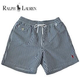 ラルフローレン 水着 海パン RALPH LAUREN ポロ POLO メンズ 紳士用 スイムウェア ショーツ サーフ ハーフパンツ ストライプ 紺 ネイビー
