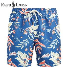 ラルフローレン 水着 海パン POLO RALPH LAUREN ポロ メンズ 紳士用 スイムウェア ショーツ サーフ ハーフパンツ ハワイアン アロハ ブルー