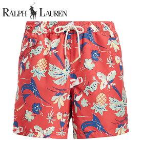 ラルフローレン 水着 海パン POLO RALPH LAUREN ポロ メンズ 紳士用 スイムウェア ショーツ サーフ ハーフパンツ トロピカル レッド