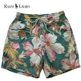 ラルフローレン 水着 海パン RALPH LAUREN ポロ POLO メンズ 紳士用 スイムウェア ショーツ パンツ ハイビスカス柄 グリーン