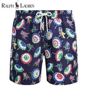 ラルフローレン 水着 海パン POLO RALPH LAUREN ポロ メンズ 紳士用 スイムウェア ショーツ サーフ ハーフパンツ ネイビー ポロベアー