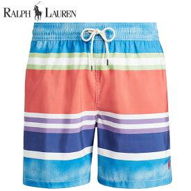 ラルフローレン 水着 海パン POLO RALPH LAUREN ポロ メンズ 紳士用 スイムウェア ショーツ サーフ ハーフパンツ ウォーターカラー ストライプ