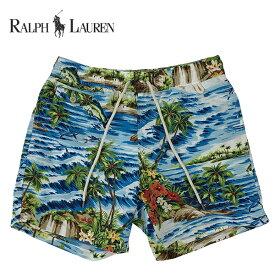 ラルフローレン 水着 海パン POLO RALPH LAUREN ポロ メンズ 紳士用 スイムウェア ショーツ サーフ ハーフパンツ アイランド ブルー