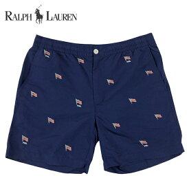 ラルフローレン 水着 海パン POLO RALPH LAUREN ポロ メンズ 紳士用 スイムウェア ショーツ サーフ ハーフパンツ ブルー フラッグ
