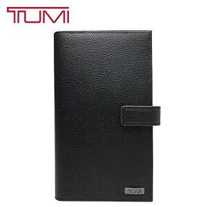 TUMI トラベルウォレット トゥミ 長財布 本革 レザー パスポートケース 旅行 出張 オーガナイザー 男女兼用 17579 エンボス ブラック