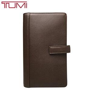 TUMI トラベルウォレット トゥミ 長財布 本革 レザー パスポートケース 旅行 出張 オーガナイザー 男女兼用 ブラウン