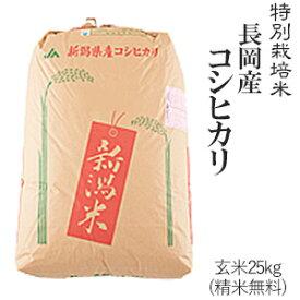 令和元年産特別栽培米長岡産コシヒカリ玄米25kg/白米4.5kg×5袋送料無料(一部地域を除く)【あす楽対応_本州】【あす楽対応_関東】【あす楽対応_四国】