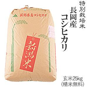 令和元年産新米特別栽培米長岡産コシヒカリ玄米25kg/白米4.5kg×5袋送料無料(一部地域を除く)【あす楽対応_本州】【あす楽対応_関東】【あす楽対応_四国】
