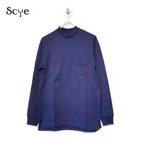 SCYE BASICS(サイベーシックス)度詰吊り天竺 ロングスリーブ Tシャツ GREY グレー【5118-21581】