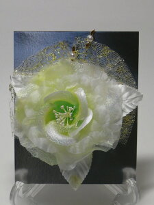 白系 コサージュw1フォーマル 卒業式 結婚式 入学式 イベント パーティー