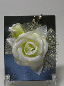 白系 コサージュw2フォーマル 卒業式 結婚式 入学式 イベント パーティー
