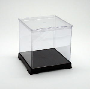 フィギュアケース ディスプレイケース コレクションケース 人形ケース 折りたたみ式ケース 横幅40×奥行40×高さ40(cm) 透明プラ