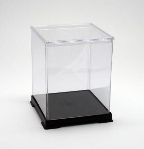 フィギュアケース ディスプレイケース コレクションケース 人形ケース 折りたたみ式ケース 横幅32×奥行32×高さ40(cm) 透明プラ