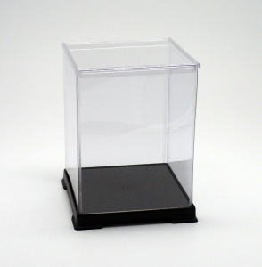 フィギュアケース ディスプレイケース コレクションケース 人形ケース 折りたたみ式ケース 横幅18×奥行18×高さ24(cm) 透明プラ