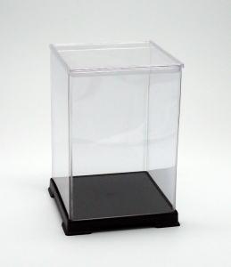 フィギュアケース ディスプレイケース コレクションケース 人形ケース 折りたたみ式ケース 横幅27×奥行27×高さ40(cm) 透明プラ