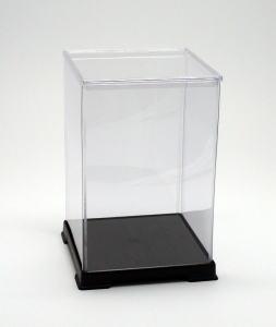 フィギュアケース ディスプレイケース コレクションケース 人形ケース 折りたたみ式ケース 横幅32×奥行32×高さ50(cm) 透明プラ