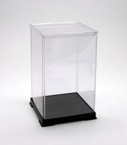 フィギュアケース ディスプレイケース コレクションケース 人形ケース 折りたたみ式ケース 横幅27×奥行27×高さ45(cm) 透明プラ