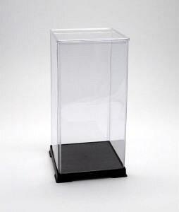 フィギュアケース ディスプレイケース コレクションケース 人形ケース 折りたたみ式ケース 横幅15×奥行15×高さ32(cm) 透明プラ