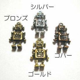 チベタンスタイル*チャーム*ロボット*17×10mm*2個入