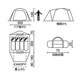 Coleman(コールマン)/テント/タフワイドドーム/IV/300/テント/ドーム型/4〜5人用/セット/キャンプ/アウトドア