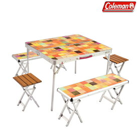 コールマン(Coleman) テーブルセット ナチュラルモザイクTM ファミリーリビング セットプラス 2000026757 ファニチャー(テーブル イス) テーブル 机 キャンプ アウトドア
