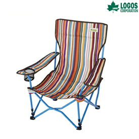LOGOS(ロゴス) ストライプヒーリングチェア・ポケットプラス ファニチャー チェア キャンプ アウトドア
