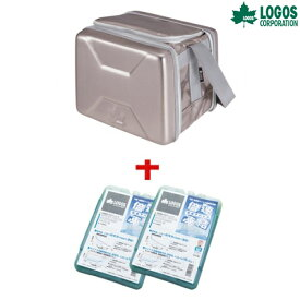 LOGOS(ロゴス) 折り畳み式クーラーボックスおでかけセットM(強力保冷剤2個付き) クーラーボックス ソフトクーラー 保冷剤 キャンプ ピクニック アウトドア