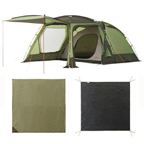 LOGOS(ロゴス) PANELスクリーンドゥーブルXLチャレンジセット テント タープ テントセット キャンプ アウトドア 71809550