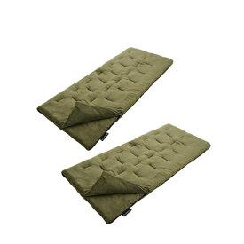 ロゴス(LOGOS) 封筒型シュラフ(寝袋)スリーシーズン用 丸洗いやわらか あったかシュラフ・-2℃対応 お得な2個セット r12ba001 シュラフ(寝袋) 封筒型シュラフ(寝袋) キャンプ アウトドア
