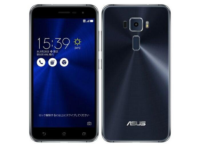 格安SIM使用可 SIMフリー Zenfone3 サファイアブラック 5.2インチ ASUS ZE520KL