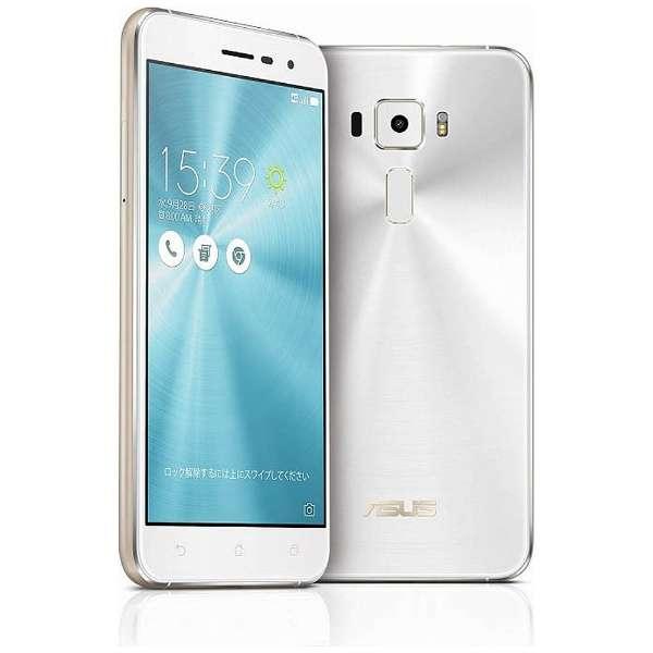格安SIM使用可 SIMフリー Zenfone3 パールホワイト 5.2インチ ASUS ZE520KL