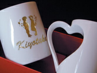 put logo name arita porcelain heart shaped mugs character golden coloring excluding remote islands and okinawa wedding anniversary