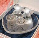 リングピローガラス ハート エンジェル(大)リングピロー、結婚式、結婚祝いにも最適!人気ガラスのリングピロー、送料無料(沖縄と離島を除く)【RCP】