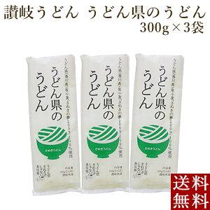 讃岐うどん さぬき うどん県のうどん 300g×3袋 乾麺 ポイント消化 メール便 全国送料無料