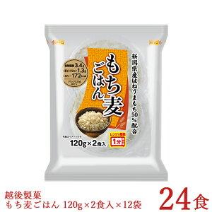 パックご飯 もち麦ごはん 120g×2食入×12袋 合計24食 新潟県産はねうまもち使用 レトルトご飯 本州送料無料