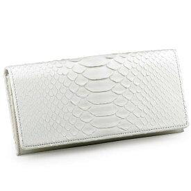 822533cafd65 【送料無料】【あす楽】白色染めダイヤモンドパイソン長財布 財布 メンズ