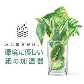 ペーパー加湿器(GREEN) エコ加湿器 日本製 電気不要 卓上 オフィス ペーパー加湿器 エコロジー おしゃれ インテリア