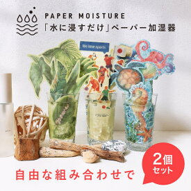 ペーパー加湿器2個セット エコ加湿器 日本製 電気不要 卓上 オフィス ペーパー加湿器 エコロジー おしゃれ インテリア ポッキリ