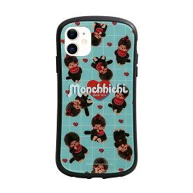 iPhone11 ケース モンチッチ ガラスケース キズ防止 強化ガラス キャラクター カバー ジャケット アイフォン かわいい ストラップホール 携帯ケース キャラクター ケース レディース スマホケース 可愛い カップル おすすめ 総柄 [N7]