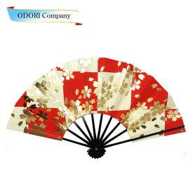 舞扇子 扇子 踊り用 (桜 市松)あですがた サクラ 飾り、撮影用 大衆演劇