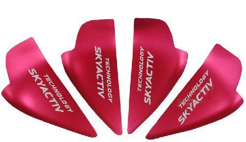 MAZDA マツダ CX-5 CX-8 CX-3 アクセラ アテンザ インナーハンドルガーニッシュ レッド SKYACTIV 代引き 宅急便発送の場合 別途送料が必要です。