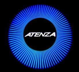 MAZDA マツダ アテンザ ATENZA 型式 GJ プロジェクター ウエルカムライト 2個セット ATENZA ロゴ 内装 ドレスアップ カスタム パーツ アクセサリー