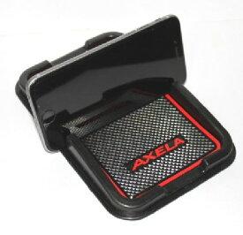 スマ-トフォンが落ちない MAZDA マツダ アクセラ スマートフォントレイ ロゴカラー レッド 内装 ドレスアップ カスタム パーツ アクセサリー 代引き 宅急便発送の場合 別途送料が必要です